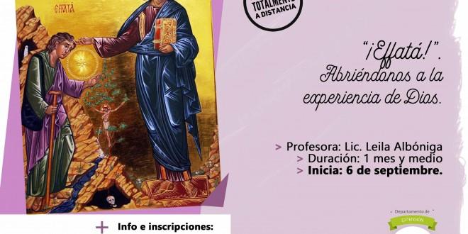 Seminario virtual | «Effatá. Abriéndonos a la experiencia de Dios».