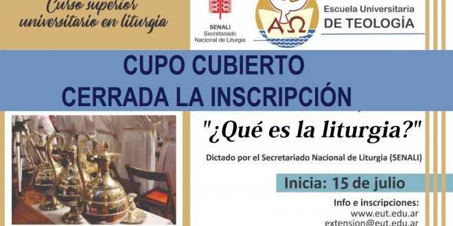 CURSO 1 – LITURGIA: INSCRIPCIÓN CERRADA