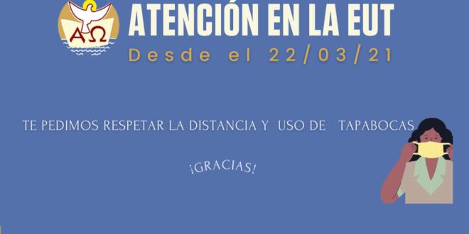 DÍAS Y HORARIOS DE ATENCIÓN 2021