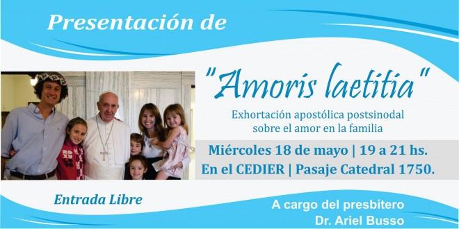 Presentación de la exhortación «Amoris Laetitia
