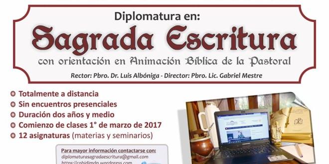 ¡Últimos días para inscribirte en la diplomatura en Sagrada escritura!