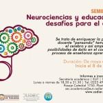 Afiche seminario neurociencias