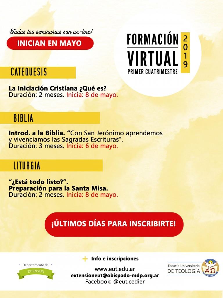 Oferta formativa virtual primer cuatrimestre MAYO