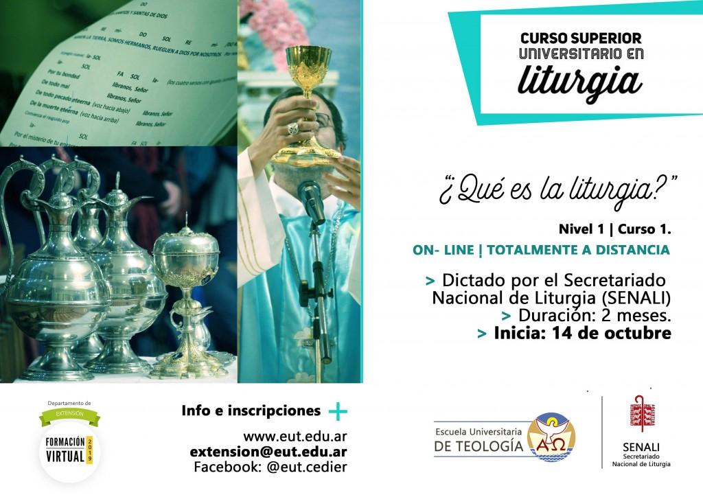 flyer Qué es la liturgia nuevo