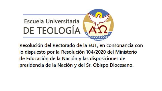 RESOLUCIÓN DEL RECTORADO EUT. SUSPENSIÓN DE LA ACTIVIDAD PRESENCIAL DESDE EL 16/03/2020