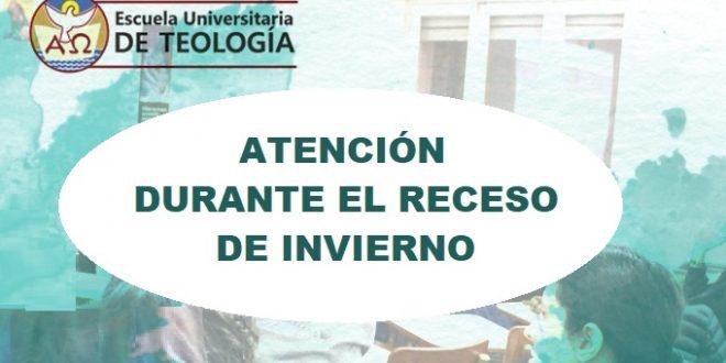 ATENCIÓN EN EL RECESO INVERNAL