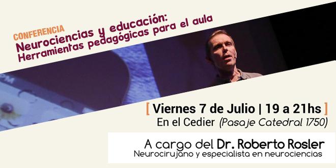 Conferencia del doctor Rosler: Neurociencias y educación