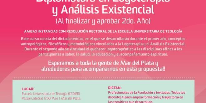 Curso universitario y diplomatura en logoterapia y análisis existencial