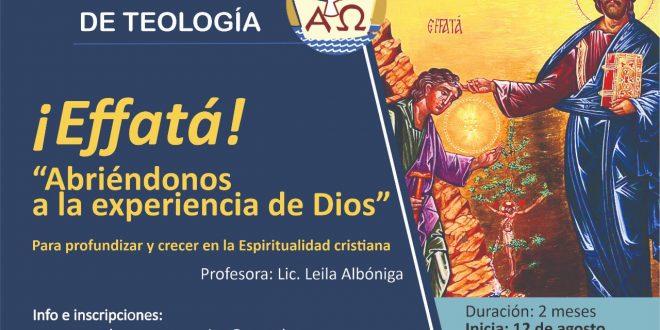 CURSO VIRTUAL «¡EFFATÁ! ABRIÉNDONOS A LA EXPERIENCIA DE DIOS»