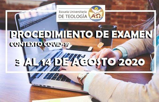 PROCEDIMIENTO DE EXAMEN CONTEXTO COVID-19